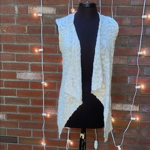 Mossimo Cream Colored Knit Vest Long Comfy